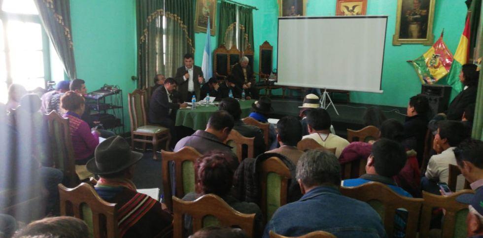 La reunión en Uyuni.