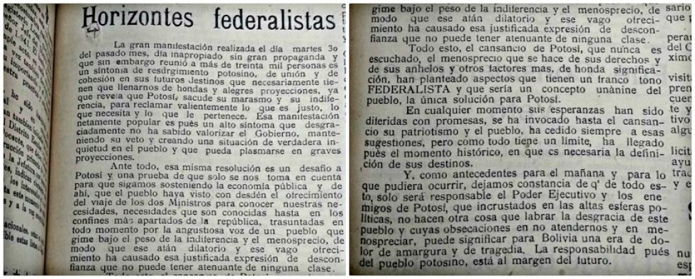 El editorial que hacía referencia a las resoluciones de la reunión del 30 de diciembre de 1941.
