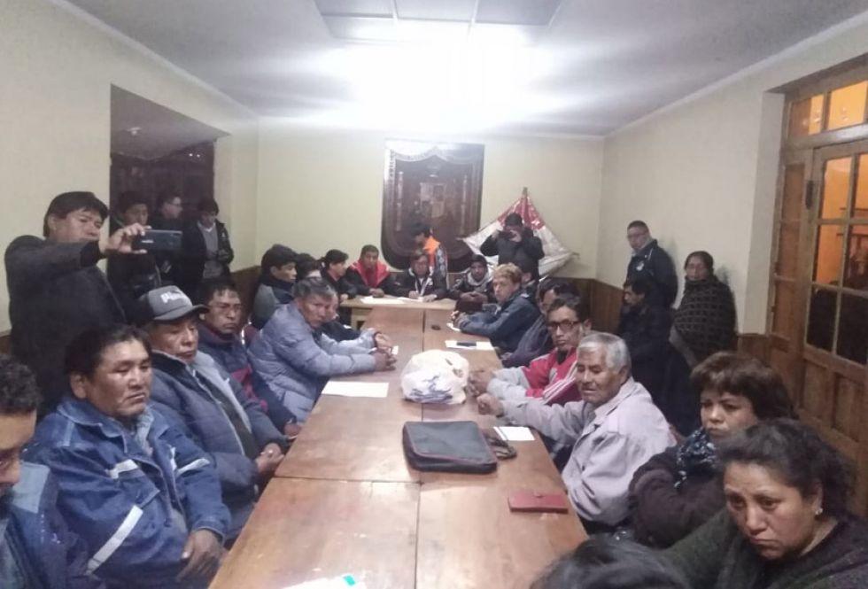 Los delegados de organizaciones afiliadas a Comcipo en la reunión de directorio ampliado.