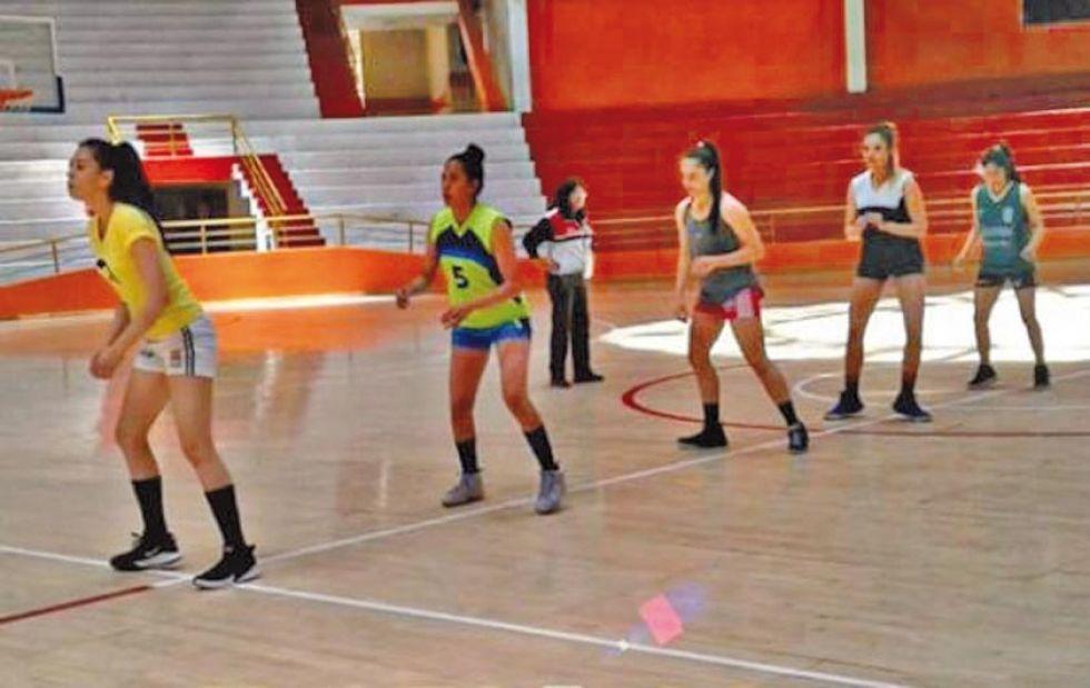 El equipo durante una de sus prácticas.