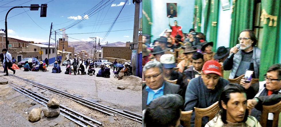Los bloqueos en Potosí y los cívicos en el diálogo de Uyuni.