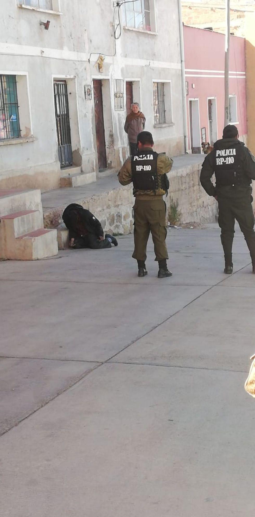 Fue asistido por personal policial