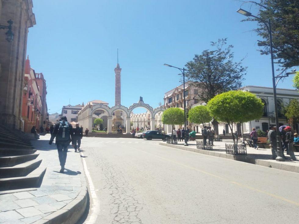 Potosí vive un paro cívico desde el inicios de semana.