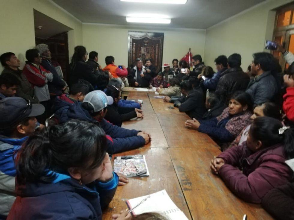 Reunión de directorio ampliado  decide radicalizar paro desde hoy