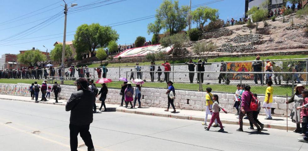 Los incidentes en la avenida Tinku
