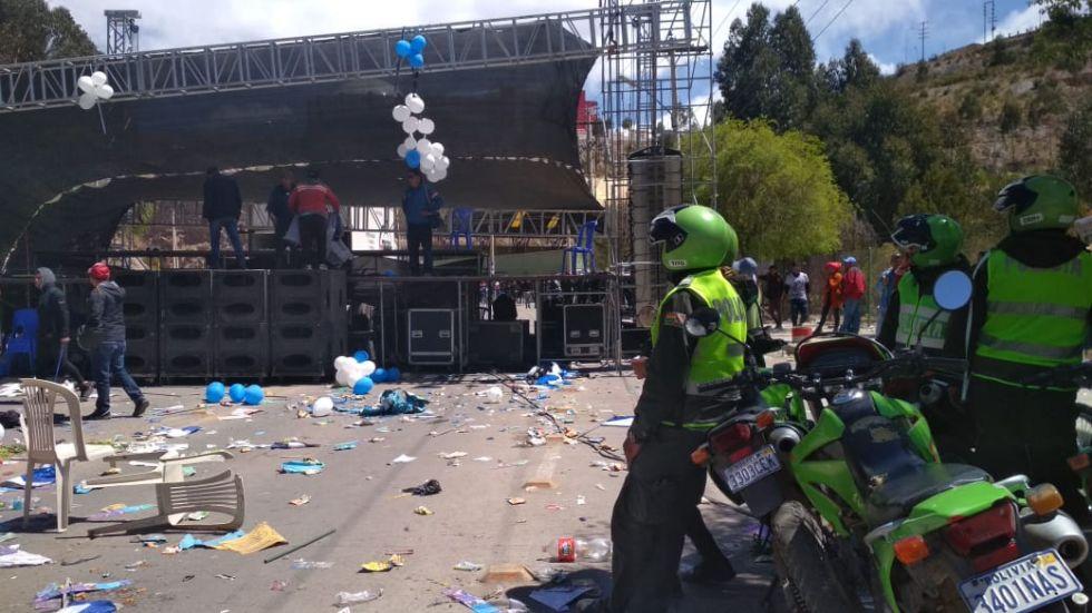 Policía brinda informe sobre los incidentes en la avenida Tinku
