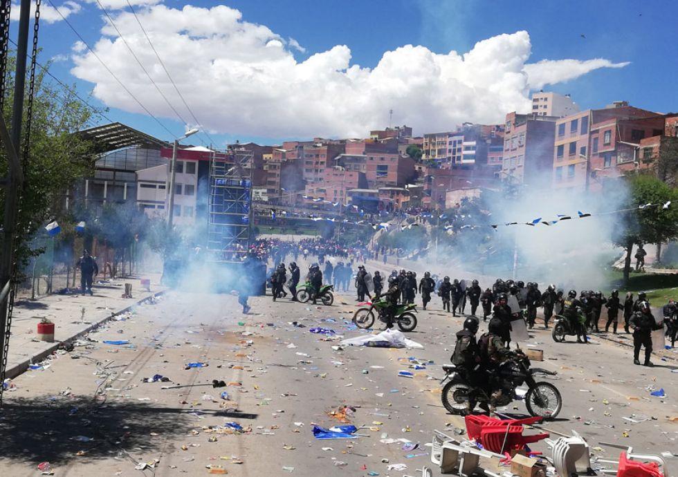 La avenida Tinkuy fue escenario de actos violentos