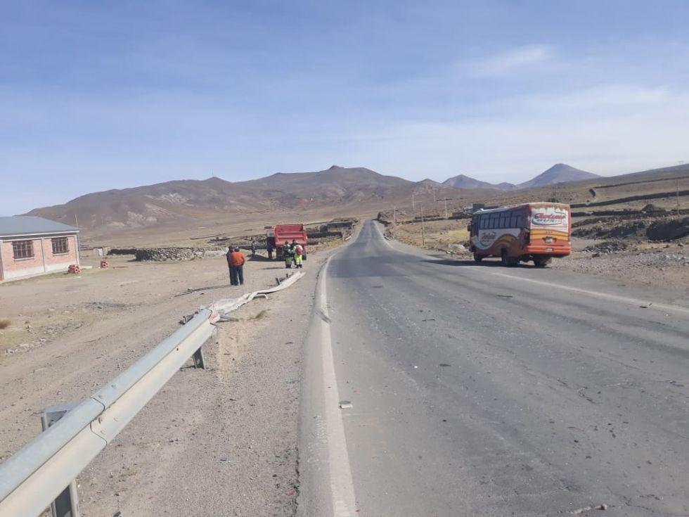 Reportan un accidente en la ruta Potosí Villazón