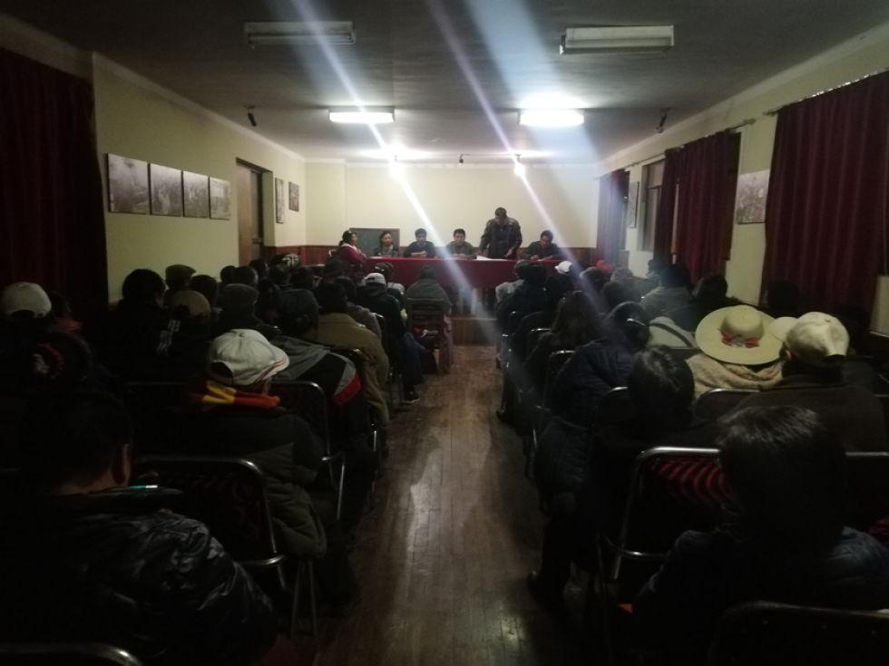 El salón Tunupa estuvo lleno de representantes de instituciones y organizaciones.