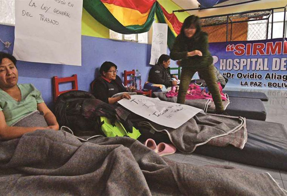 Hace un mes los profesionales de salud incluyeron en sus medidas la huelga de hambre.