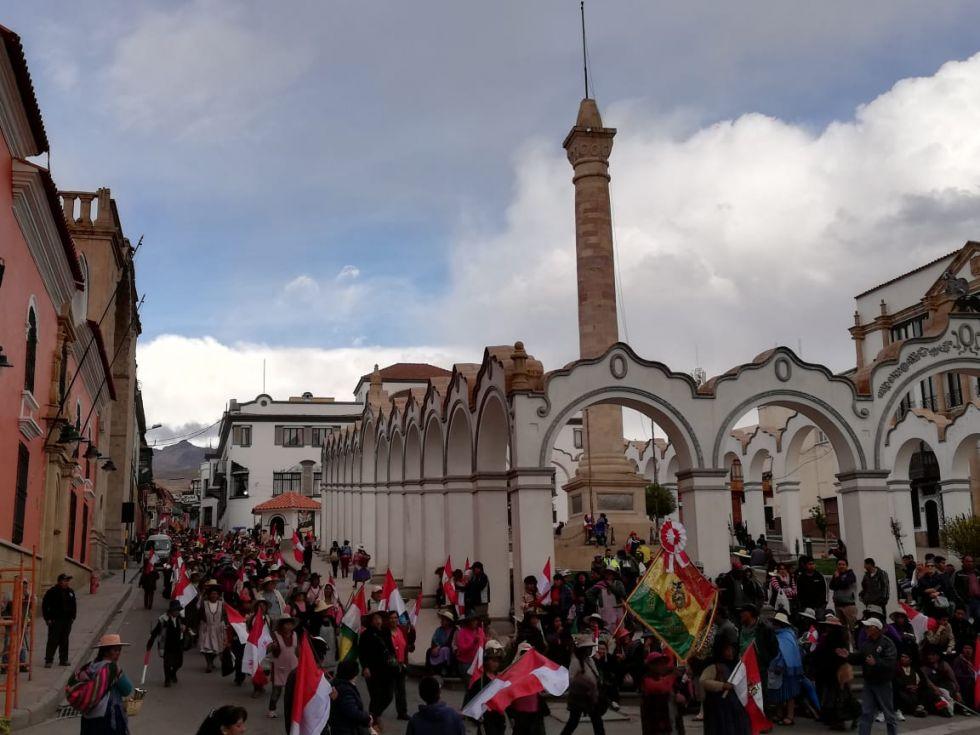 La marcha ya está en la plaza.