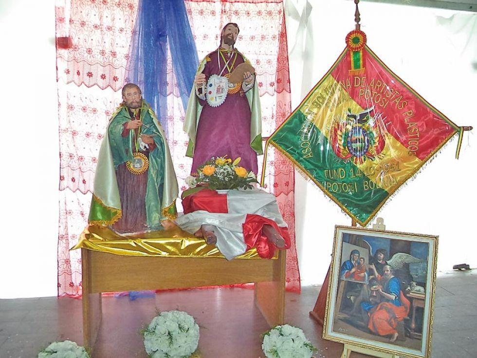 Rindieron homenaje al santo.