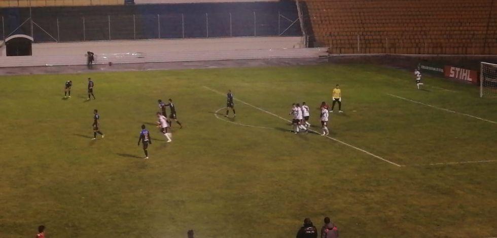 Nacional anota el primer gol a los 11 minutos.