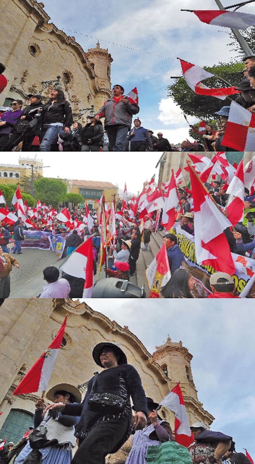 Gráficas de la marcha de protesta..