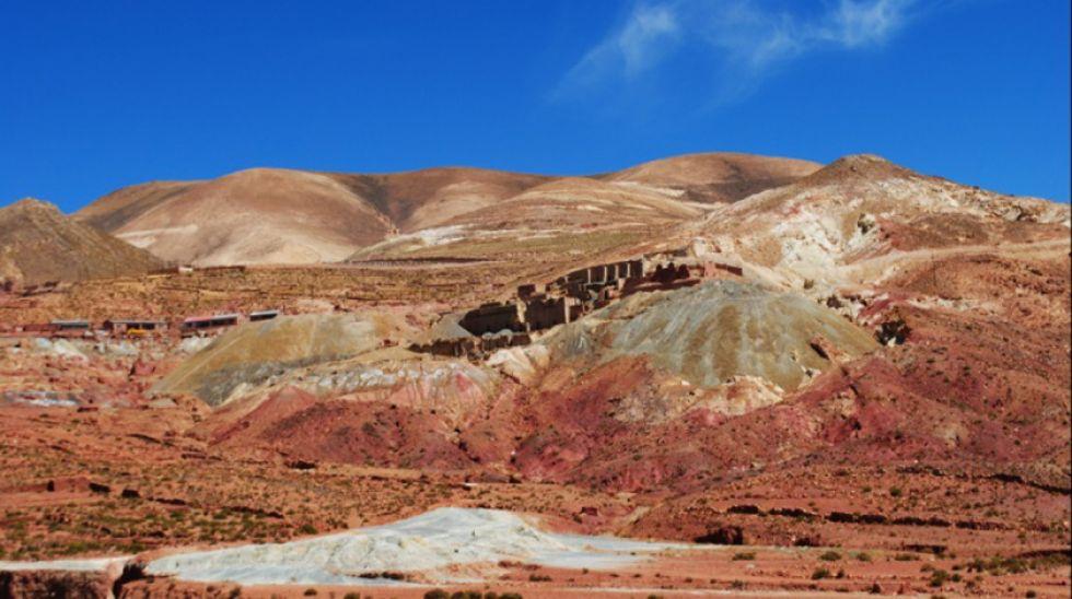 Yacimiento minero Pulacayo se encuentra ubicado en el sudoeste potosino.