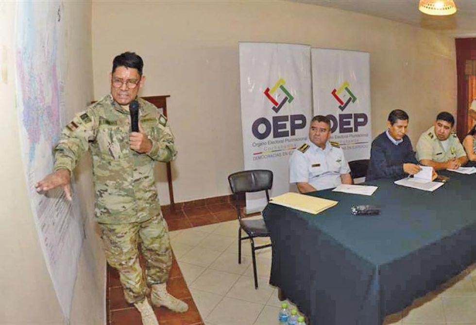 Desarrollan un operativo coordinado con el Tribunal Supremo Electoral.