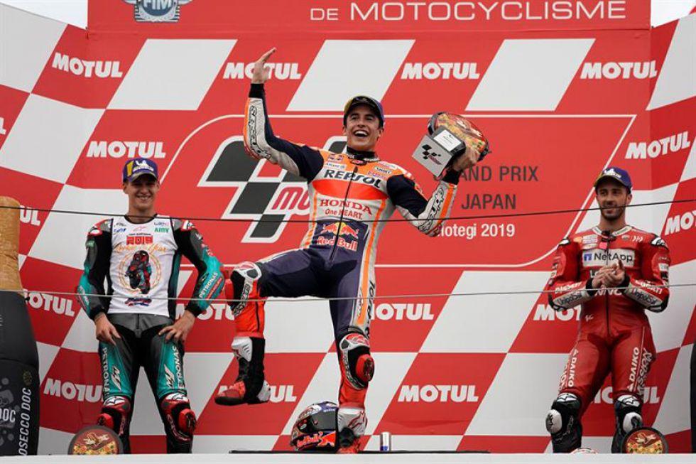 Márquez gana el GP de Japón