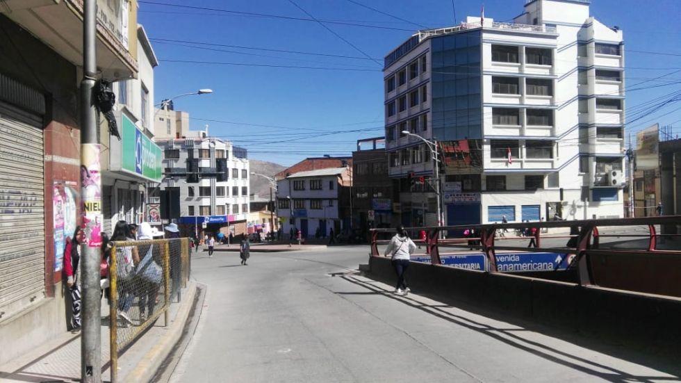 Panorama de las calles por la mañana