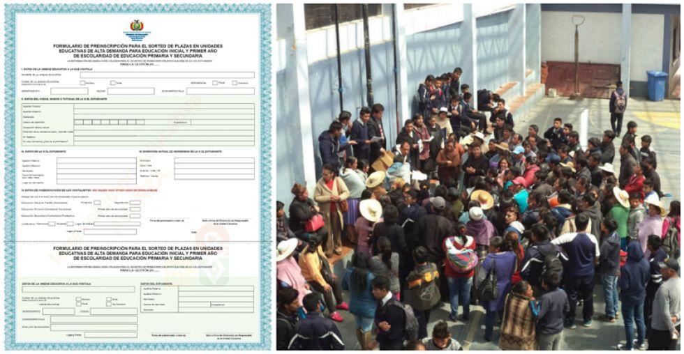 El formulario puede ser impreso desde la página del Ministerio de Educación para el sorteo a finales de noviembre.