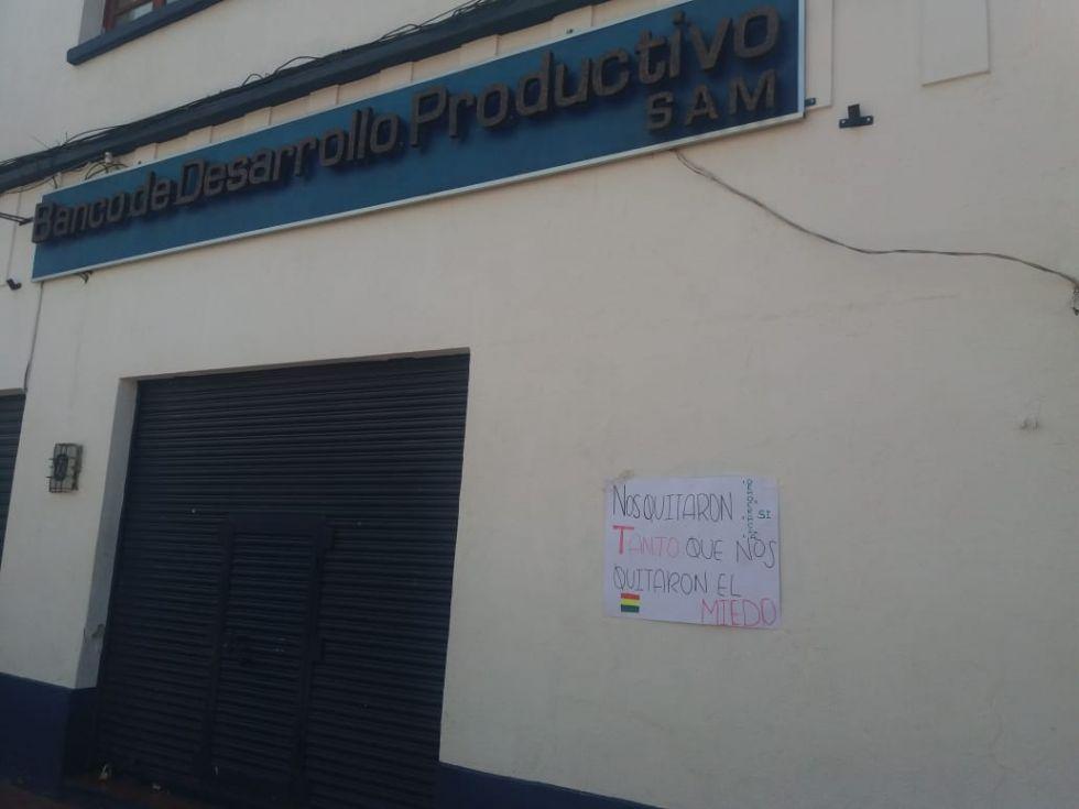 Entidades financieras cerradas.