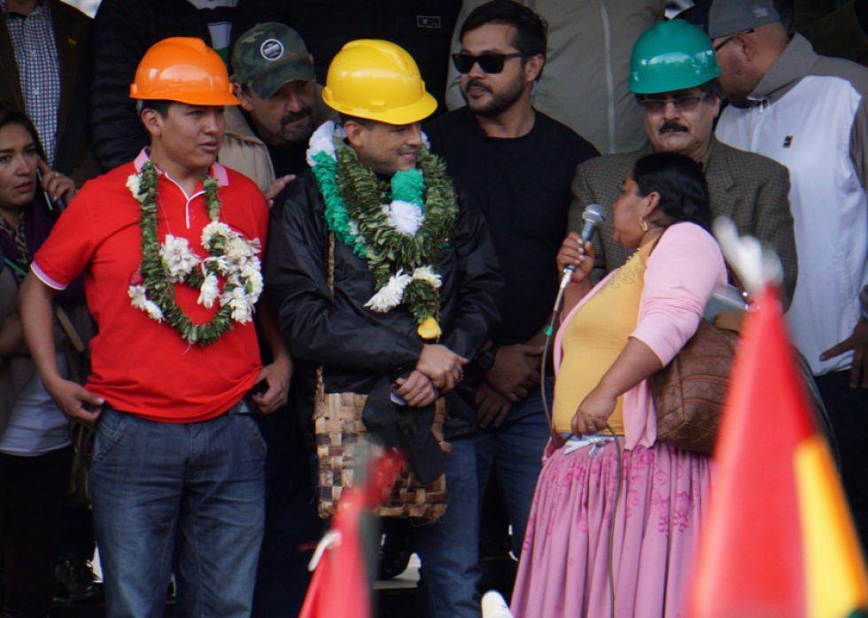 Los cívicos no se irán de La Paz hasta lograr democracia
