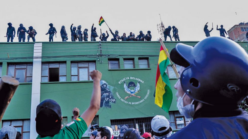 La crisis policial inició en la UTOP de Cochabamba.