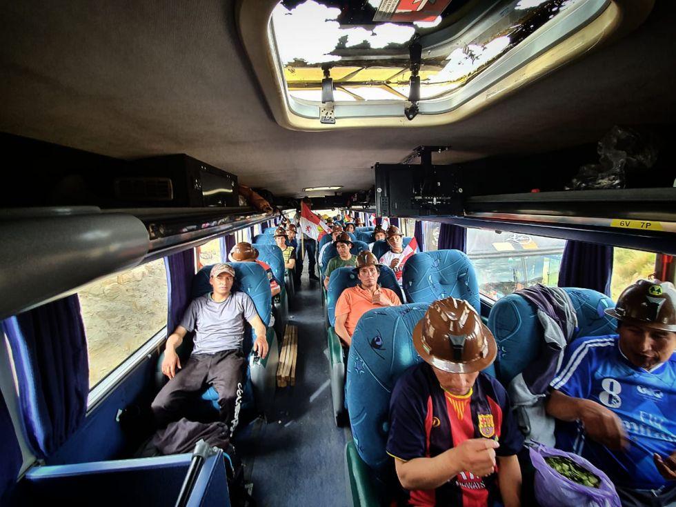 Otros ocupantes del bus.
