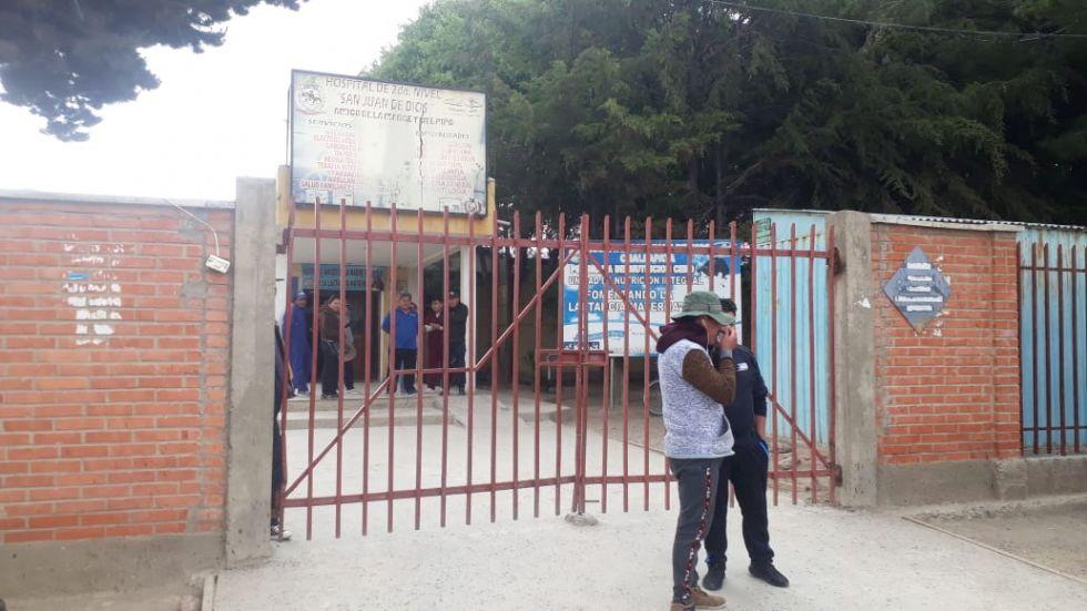 Recibieron atención en el hospital San Juan de Dios de Challapata. FOTO VLADIMIR EQUICE