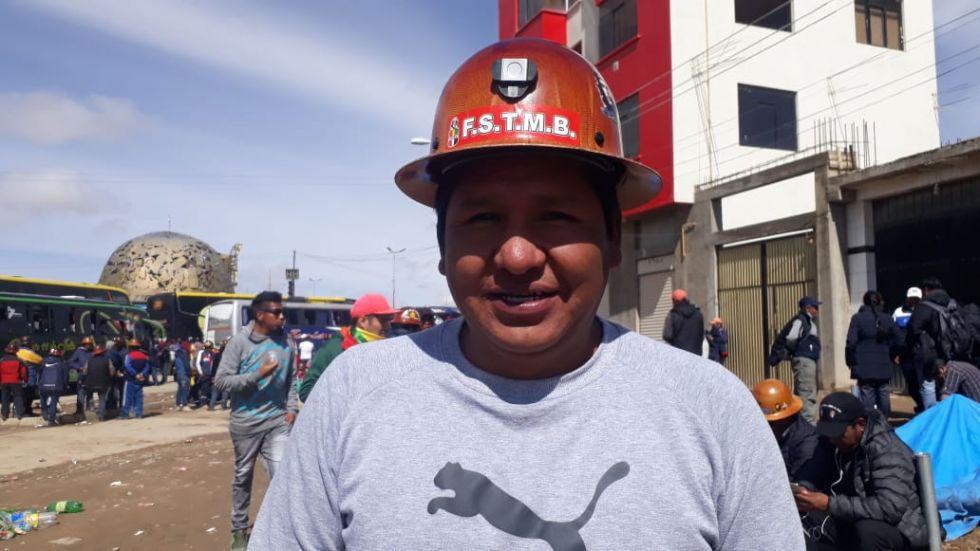 El dirigente de la COD, heriberto Chavarría. FOTO VLADIMIR EQUICE