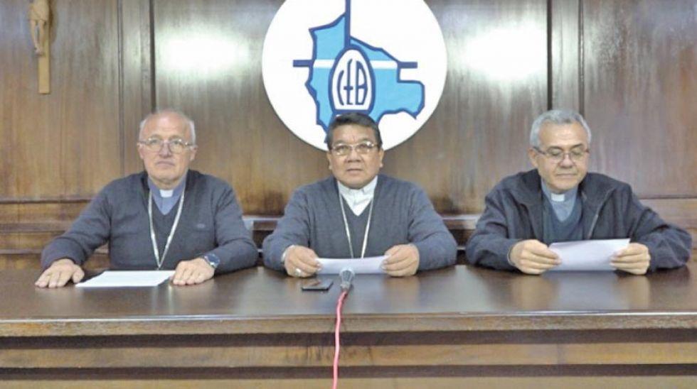 Representantes de la Conferencia Episcopal de Bolivia.