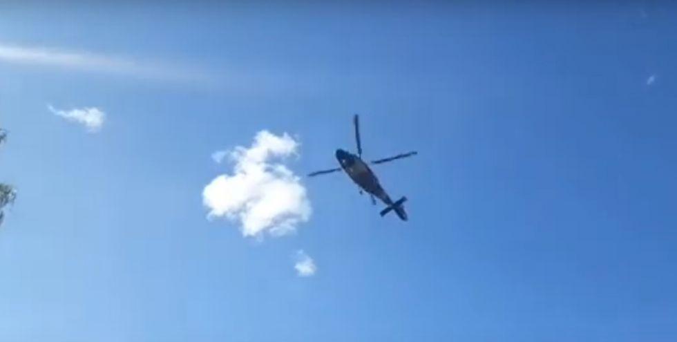 Aterrizan helicópteros en Zudáñez, uno de ellos de la Fuerza Aérea