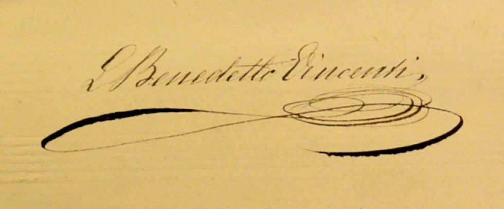 La firma de Leopoldo Vincenti
