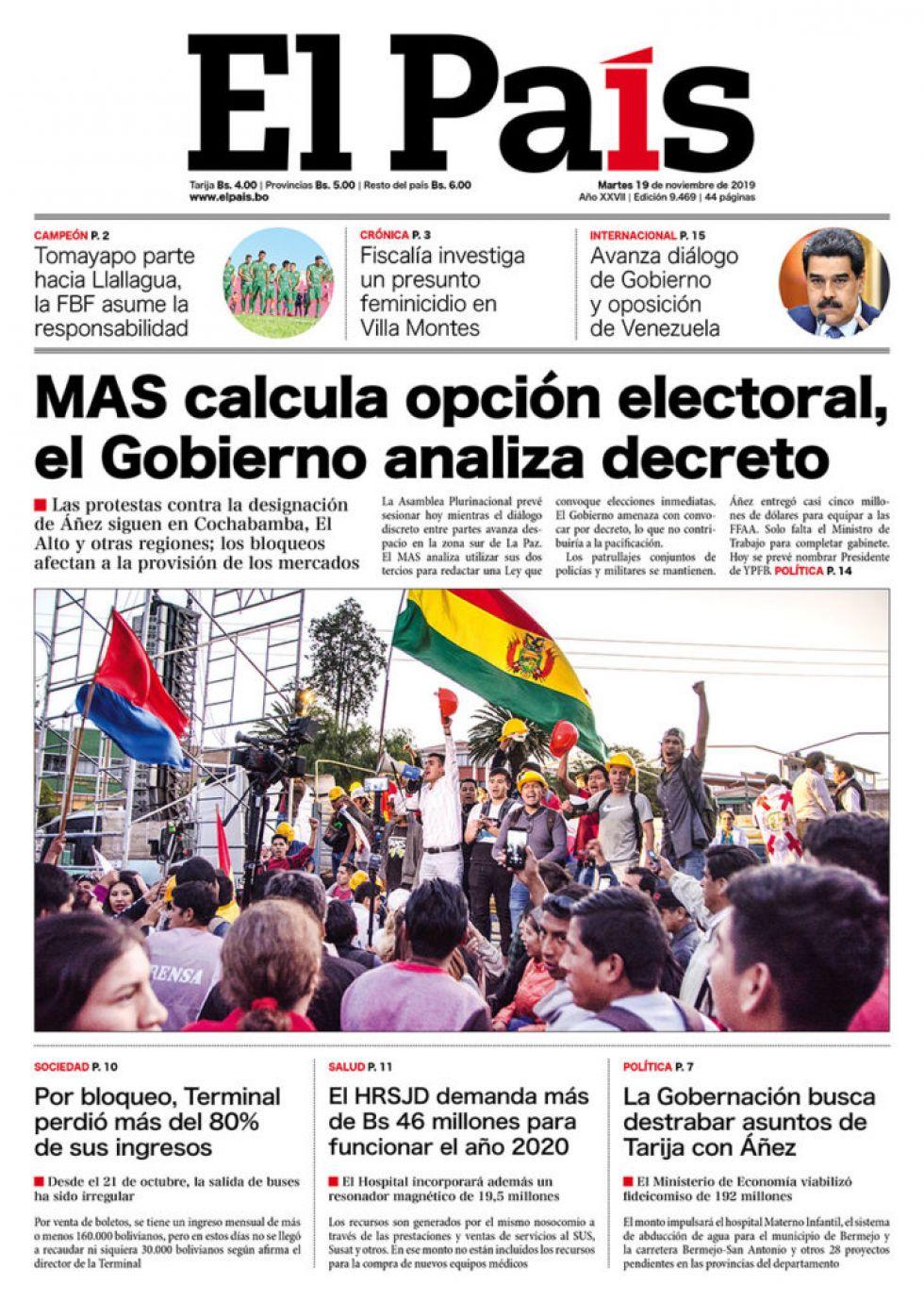 El País, Tarija.