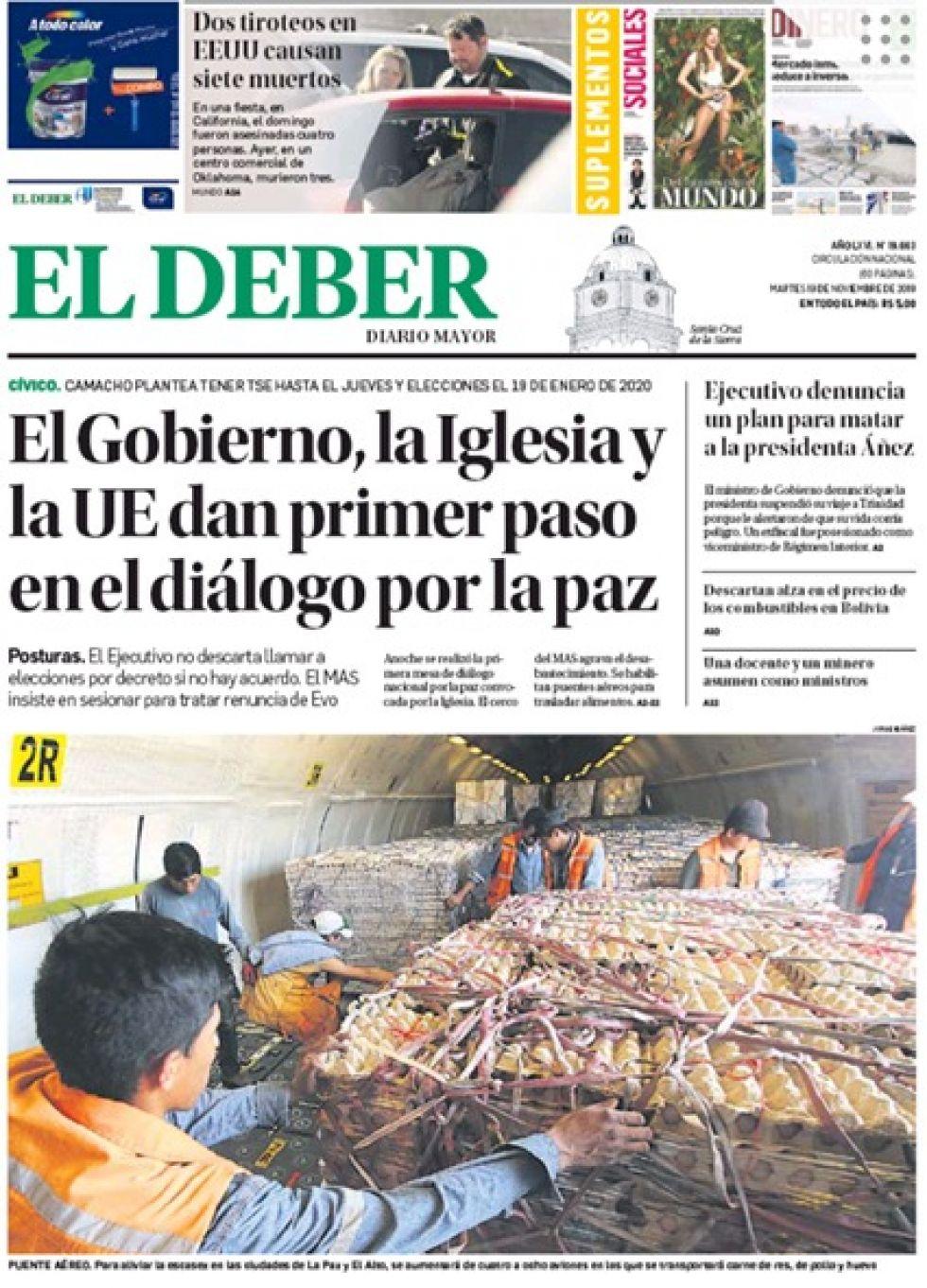 El Deber, Santa Cruz.