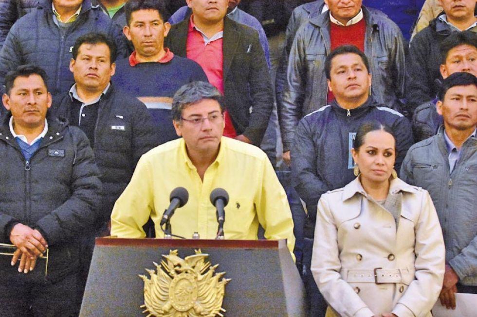 El titular del Ministerio de la Presidencia, Jerjes Justiniano Atalá.