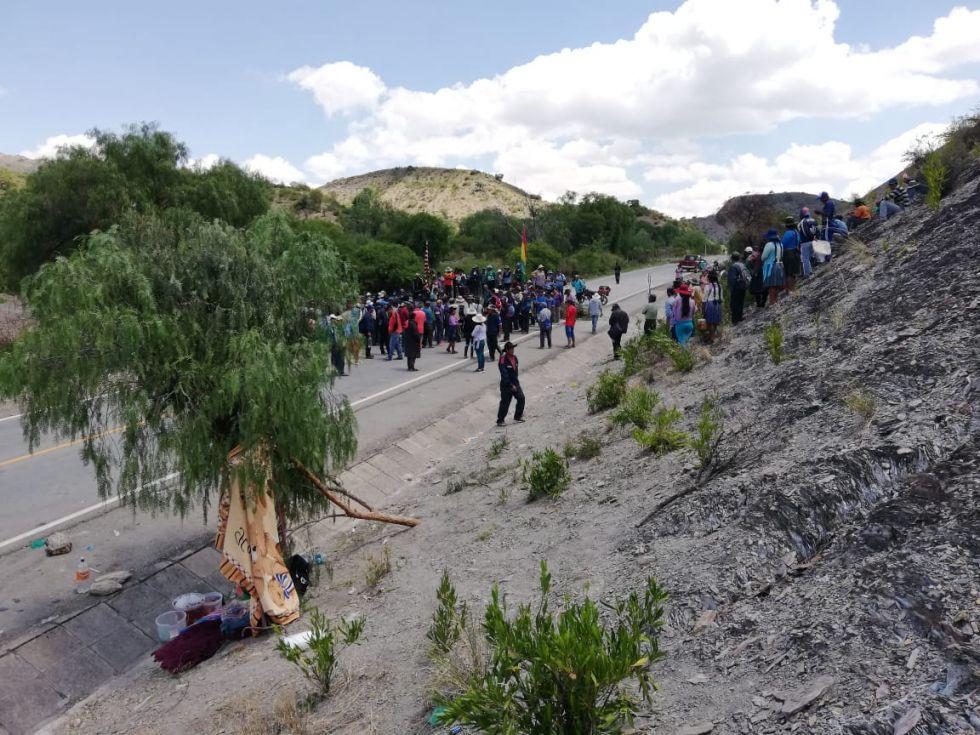 Bloqueo en Abra San Miguel.