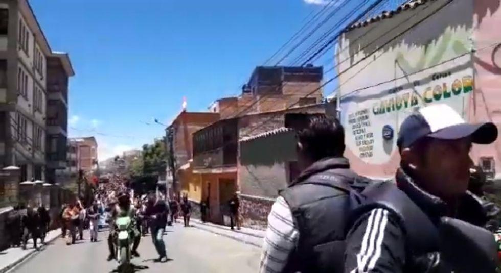 Así cubrió El Potosí la llegada de los bloqueadores de Betanzos