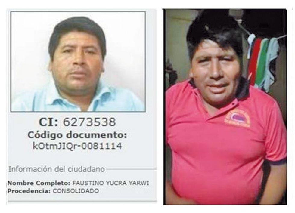 Faustino Yucra es el hombre que conversa con Morales.