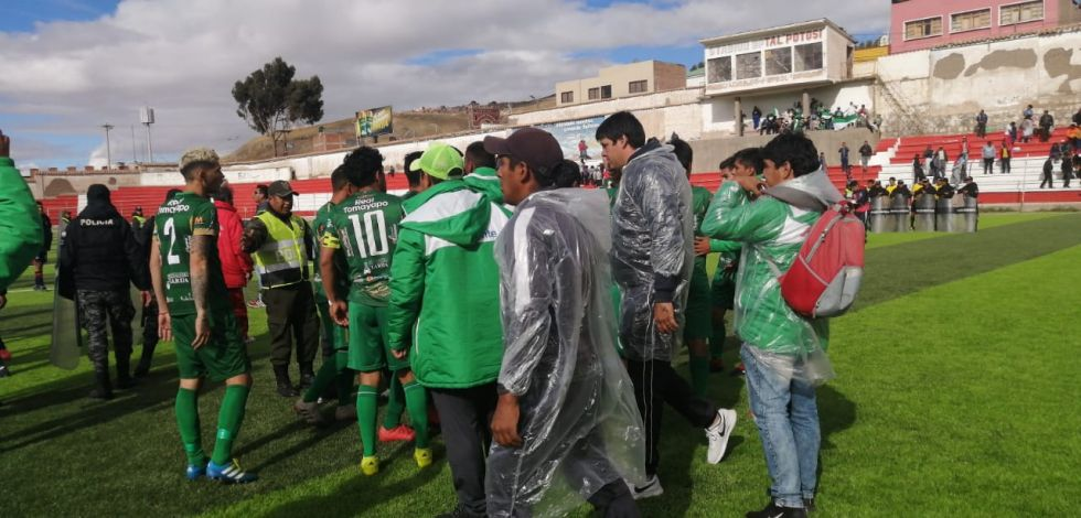 El partido se jugó en el estadio potosino