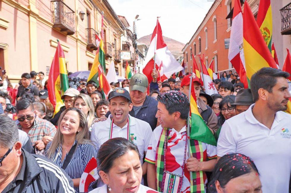 Así recorrieron las calles de Potosí cuando Camacho llegó a esta ciudad.