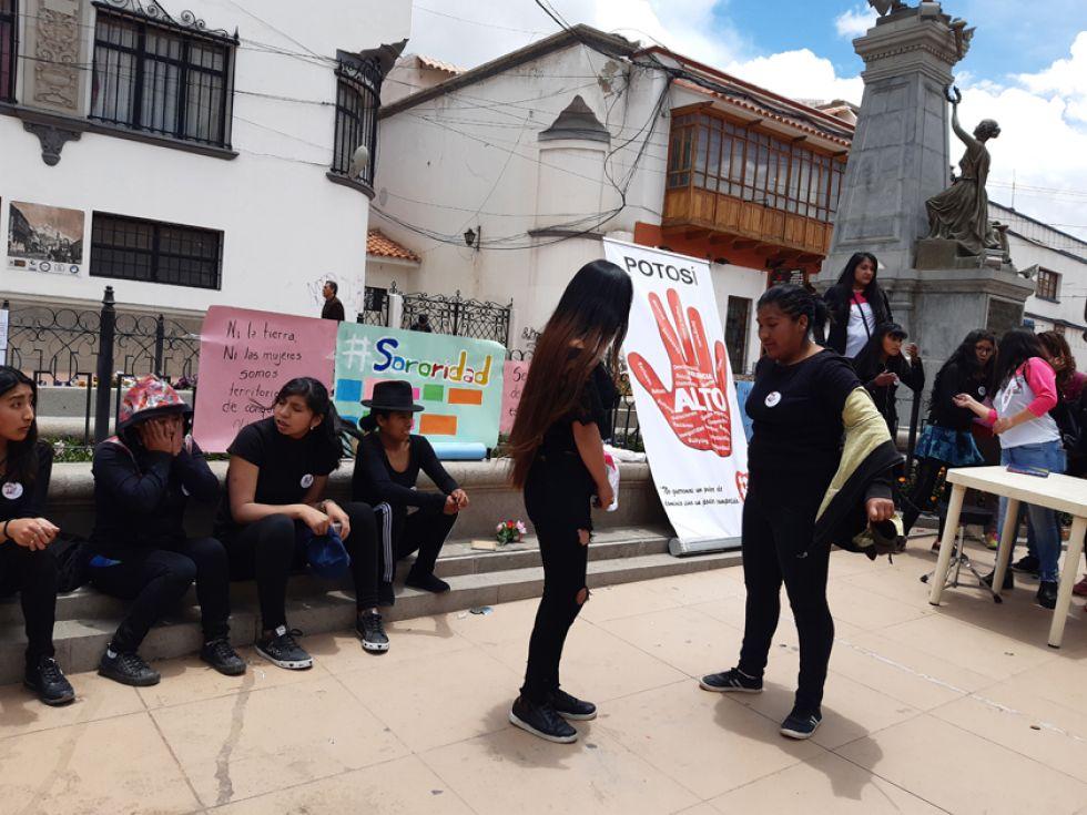 Las escenificaciones fueron en la Plaza Alonso de Ibáñez.
