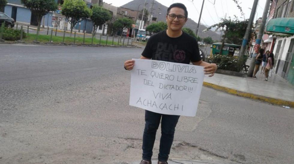 Larrazábal retorna a Bolivia y pide a la presidenta que cierre el parlamento