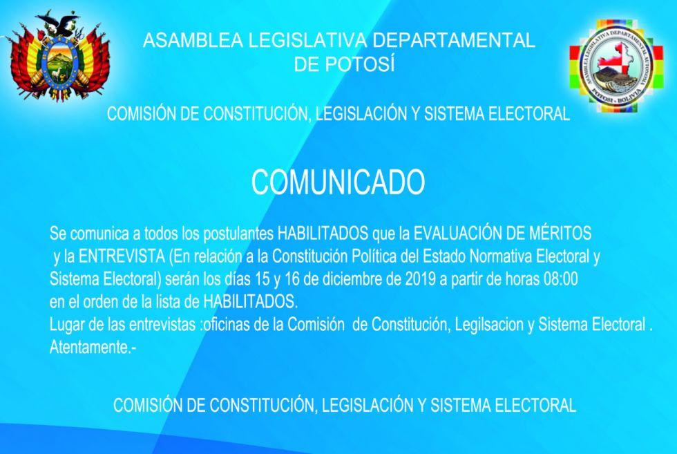 El comunicado para los postulantes ALDP