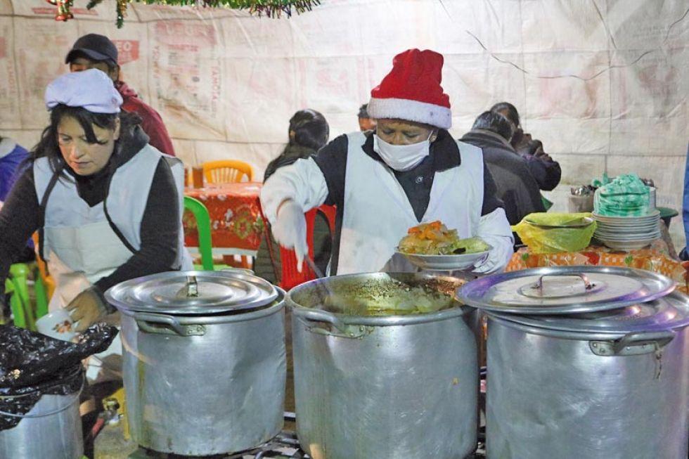 La higiene y elementos navideños estaban presentes.