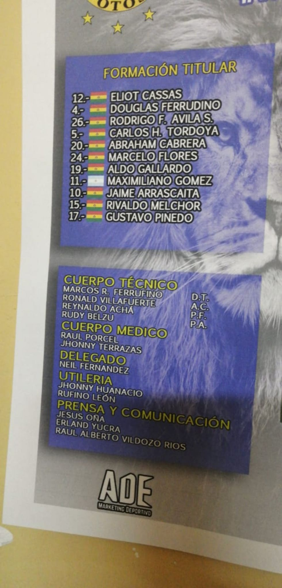 El partido se juega en Potosí