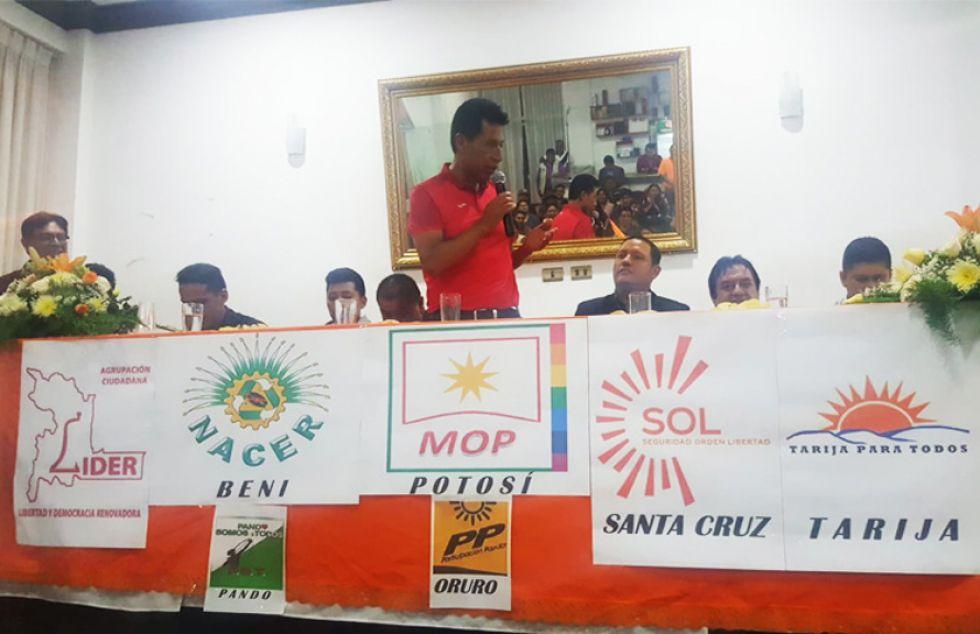 """Nueve agrupaciones ciudadanas fundan la alianza """"Bolivia Unida"""""""