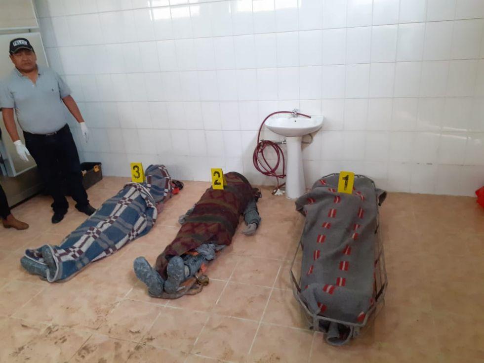 Sacaron a las tres víctimas de la mina