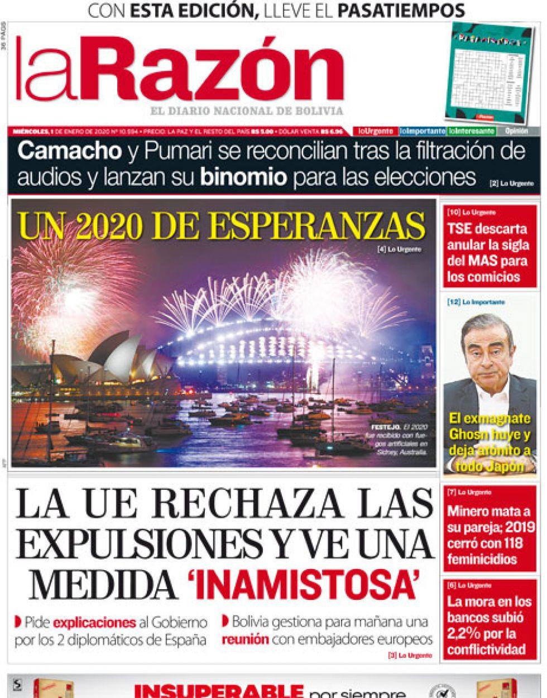 La Razón, La Paz.