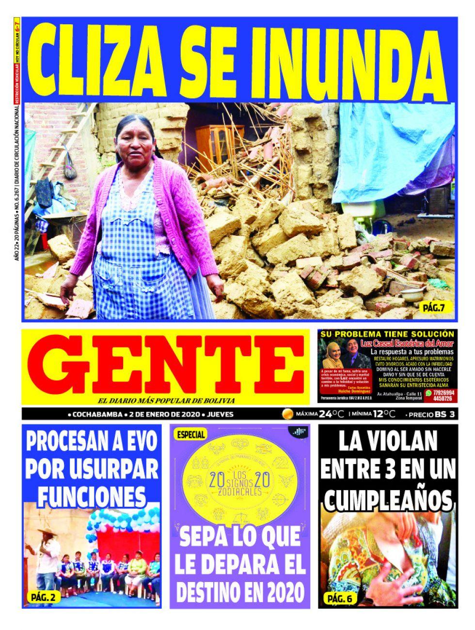 Gente, Cochabamba.