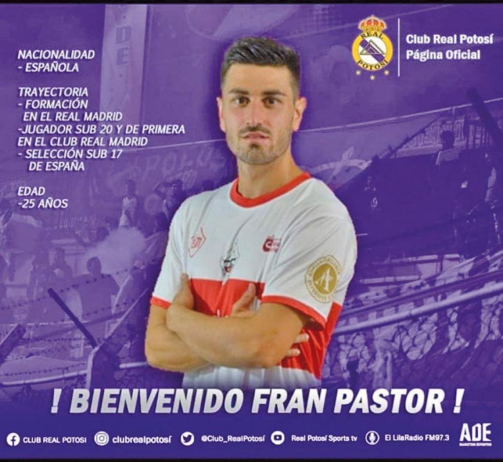 El delantero español Francisco Pastor.